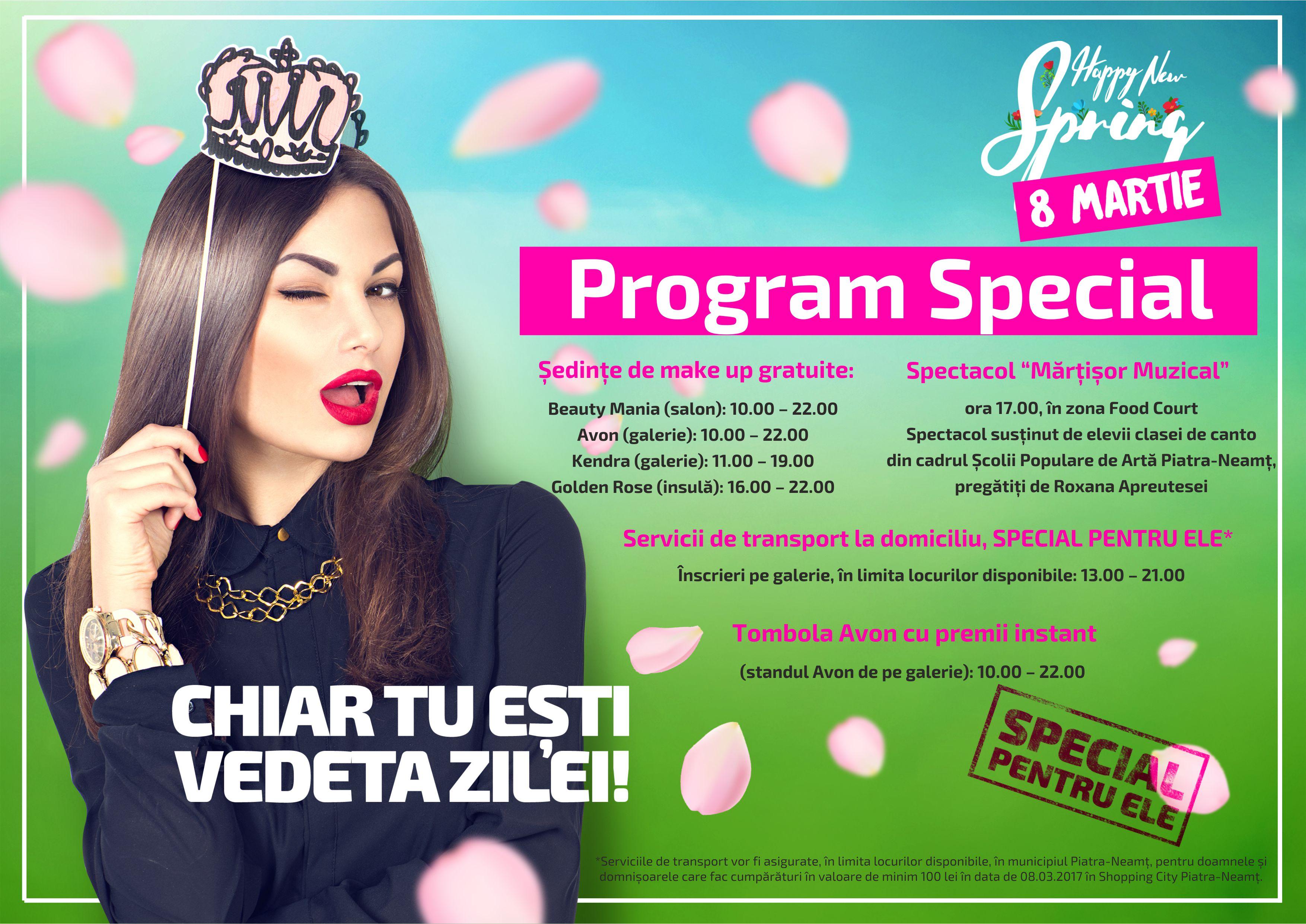 Program Evenimente 8 Martie A4 Shopping City Piatra Neamt