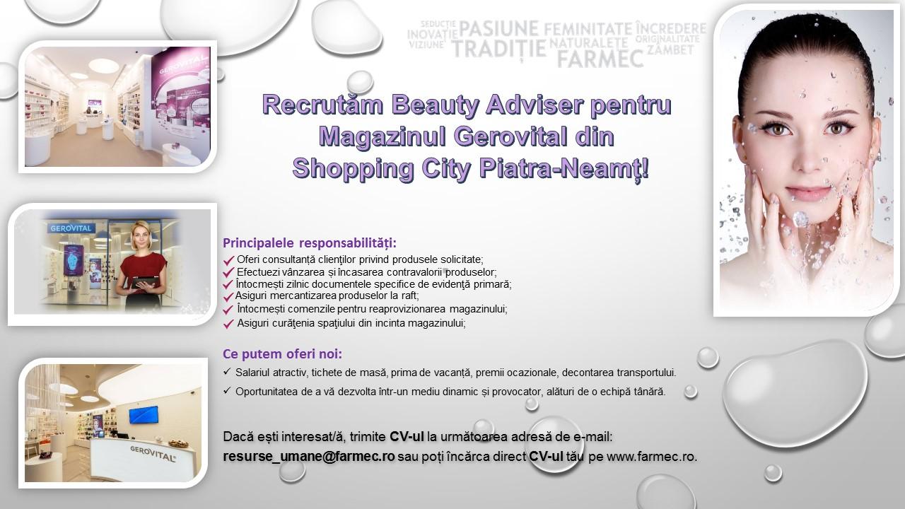 Beauty Piatra Neamt_anunt recrutare
